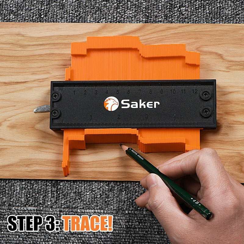 Saker Contour Gauge Profile Tool -Precisely Copy Irregular Shape Duplicator - mygeniusgift