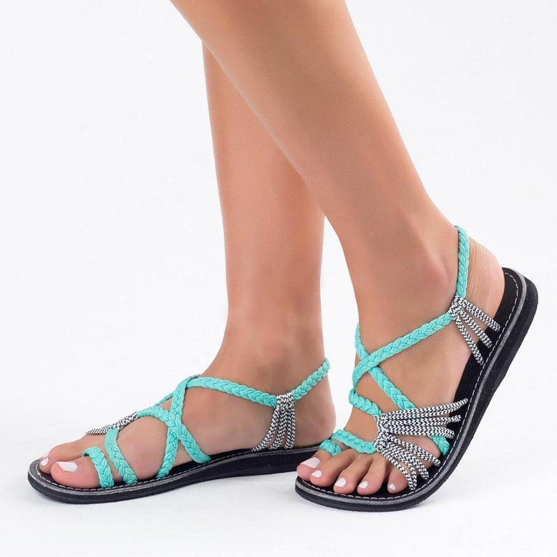 Palm Leaf Flat Sandals for Women, 1 Pair - mygeniusgift