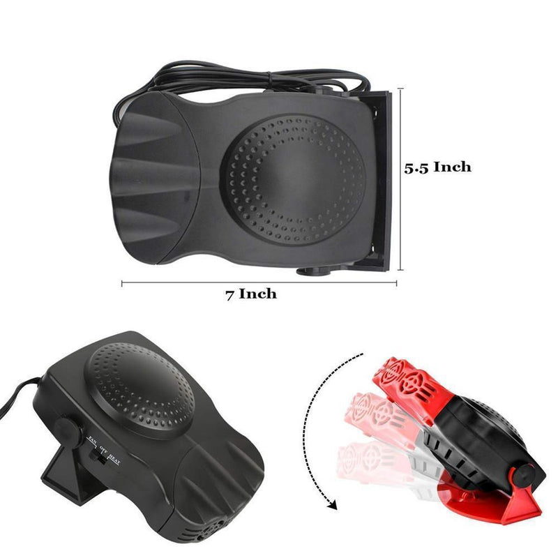 Mygeniusgift™ 150W Portable Car Heater Defrosts Defogger - mygeniusgift
