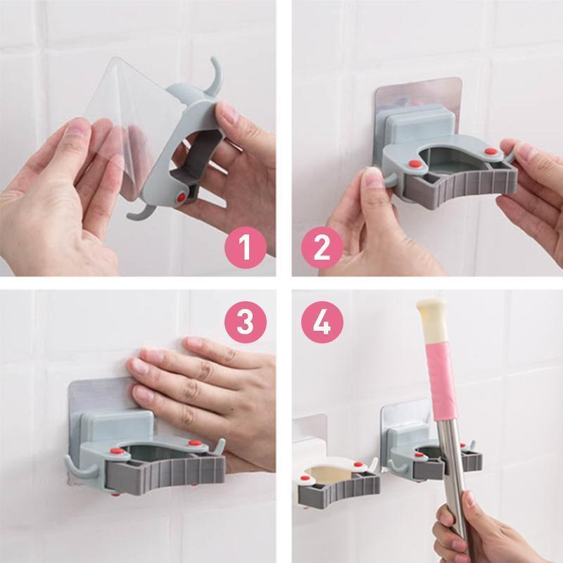 Mop Brush Holder Rack Wall Mount Storage Hook - mygeniusgift