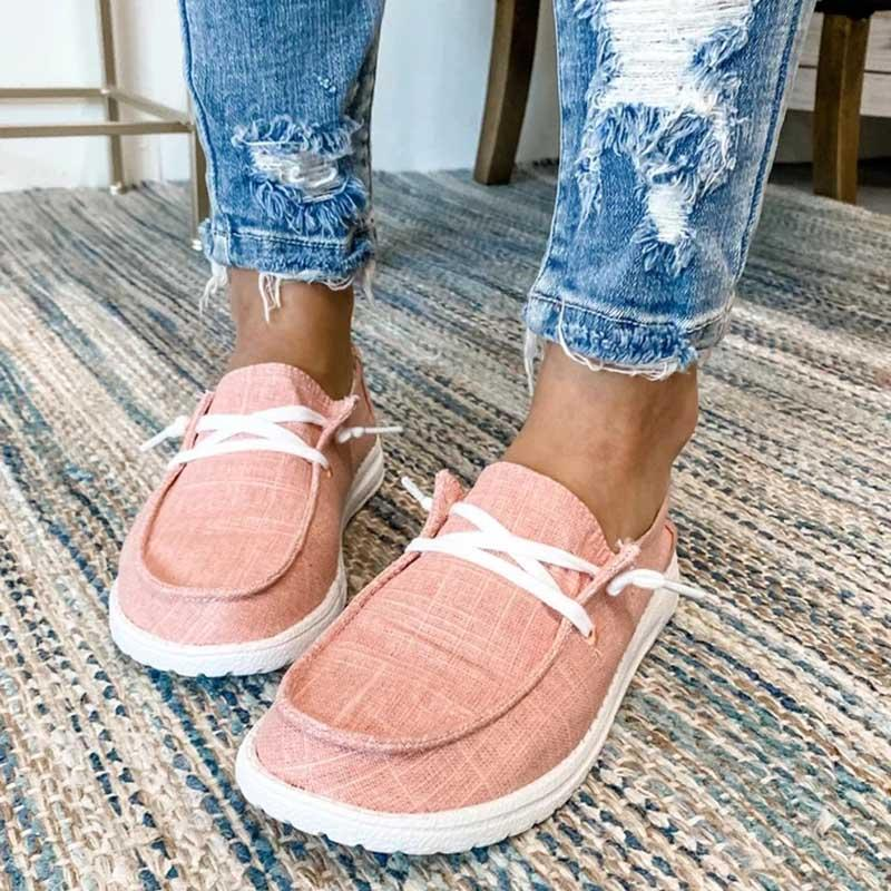 Women's Canvas Lace-Up Sneakers