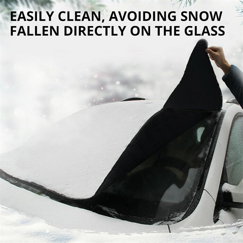 Car Windshield Snow Cover, With 2 Adjustable Car Side Mirror Covers - mygeniusgift