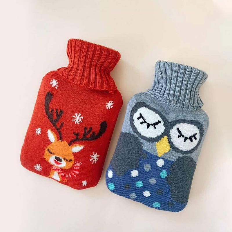 Rubber Hot Water Bottle with Knit Cover