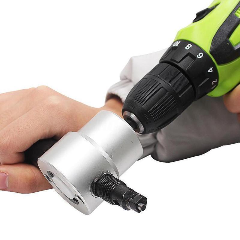 DOMOM Zipbite - Nibbler Cutter Drill Attachment Double Head Metal Sheet - mygeniusgift