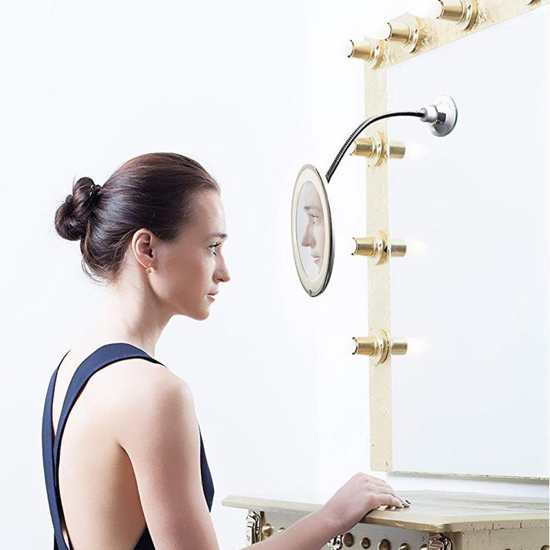 Mygeniusgift™ Magnifying Makeup Mirror with LED Light - mygeniusgift