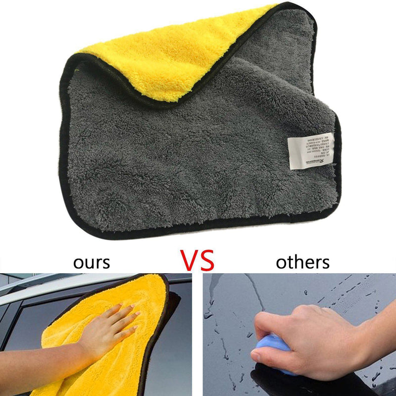 Professional Polishing Waxing Drying Cleaning Towel, 2 Packs - mygeniusgift
