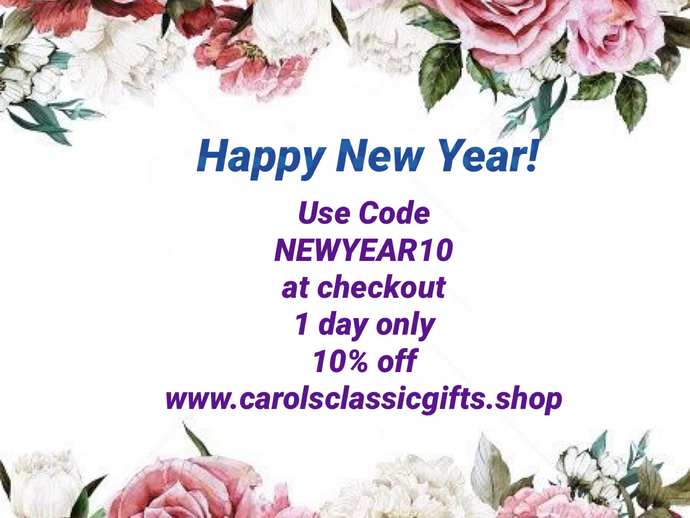 HAPPY NEW YEAR! 🎉.    Code NEWYEAR10  for your 10% OFF 1 Day only