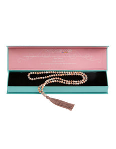 MALA BEAD PINK MATRIX NECKLACE