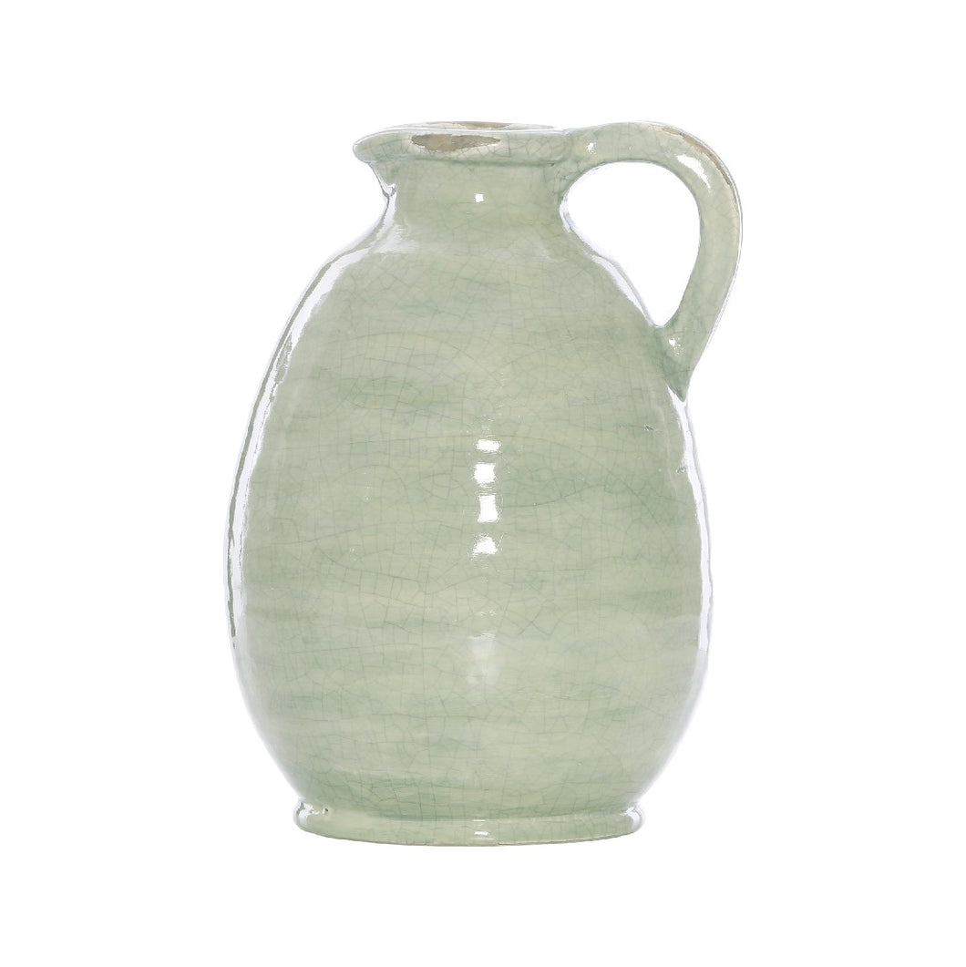 MERRI TERRACOTTA SAGE CRACKLE URN JUG