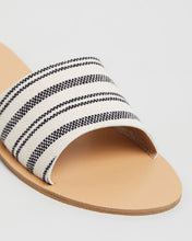 SLIDE CRETE- BLACK/BEIGE STRIPE