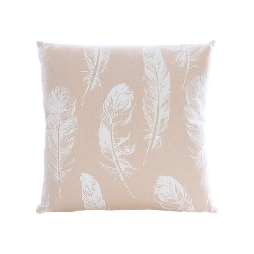 CUSHION PINK/WHITE LEAF