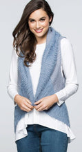 VEST FAUX FUR KNIT