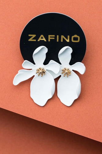 LARGE ORCHID EARRINGS WHITE