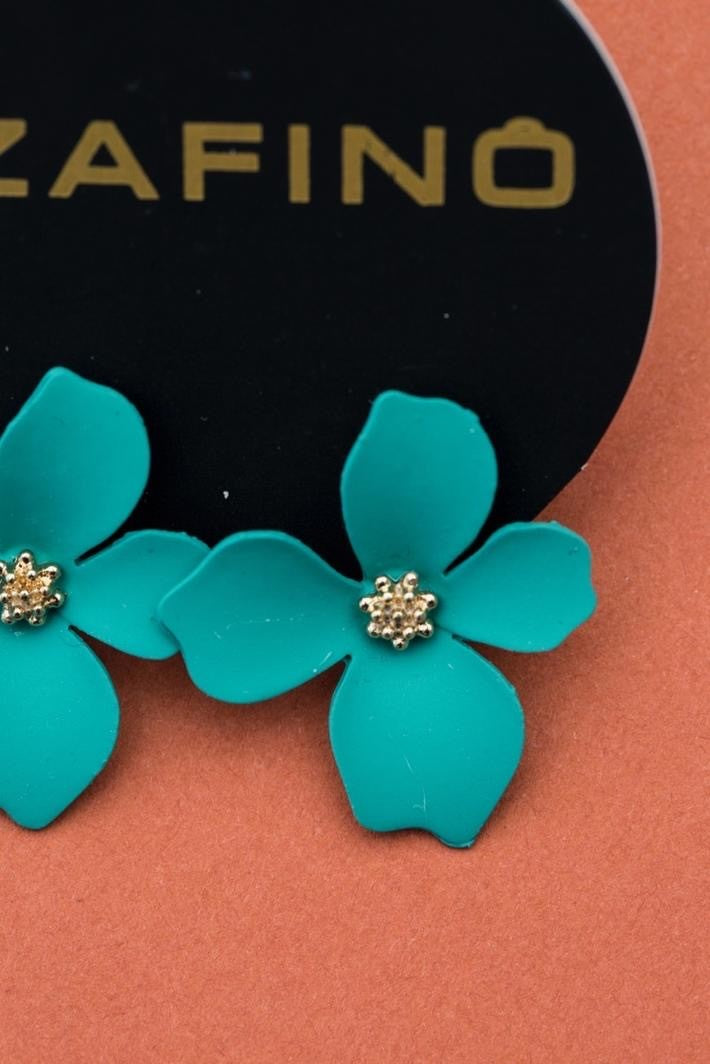 ORCHID EARRINGS GREEN (SMALL)