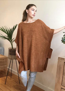 PONCHO TOP IN RUST