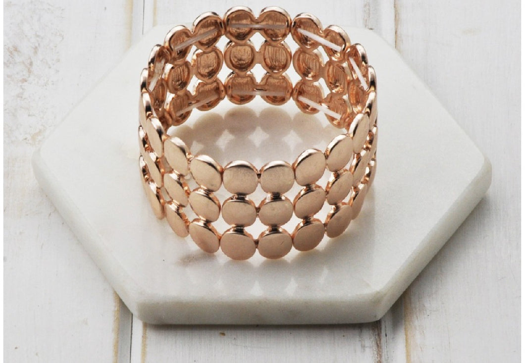 ROSE STRETCH WIDE BRACELET