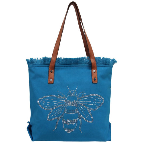 BEE-CAUSE WASHED TOTE SAPPHIRE