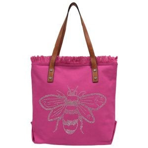 BEE-CAUSE WASHED TOTE FUCHSIA