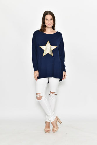 GOLD STAR KNIT NAVY