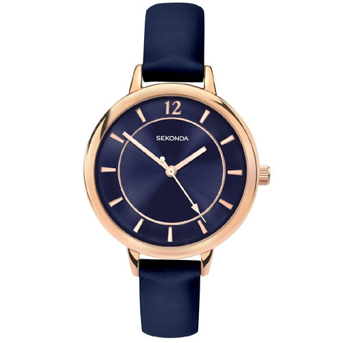ROSE GOLD WATCH WITH BLUE STRAP