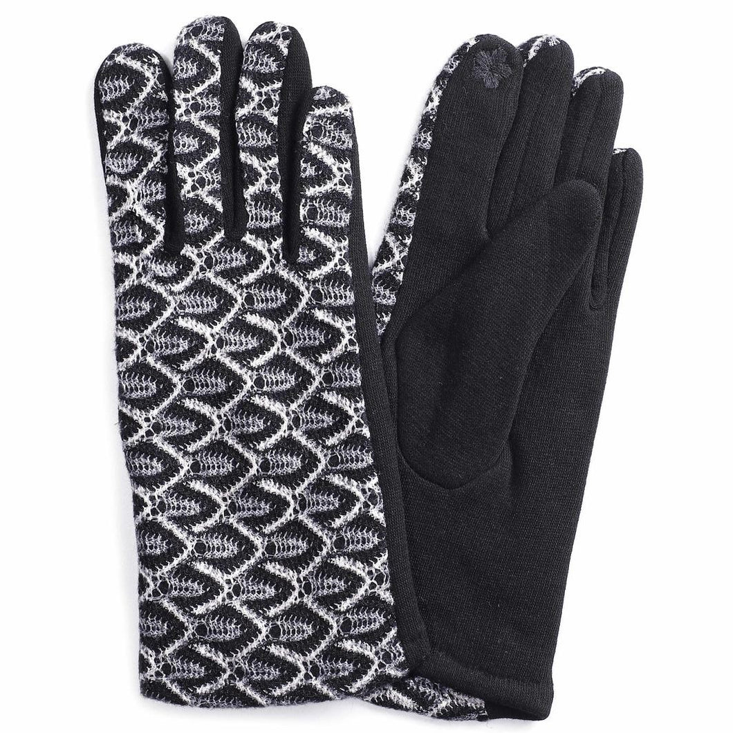 BLACK EMBROIDERED GLOVES