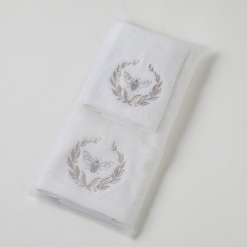 BEE HAND TOWEL & FACE WASHER IN ORGANZA BAG