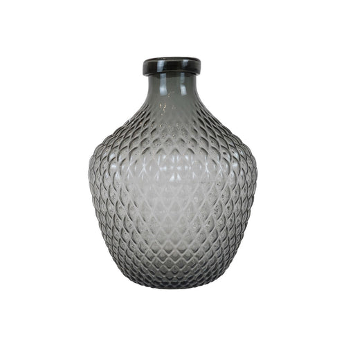 CASK LGE ROBERTS GREY GLASS RIBBED