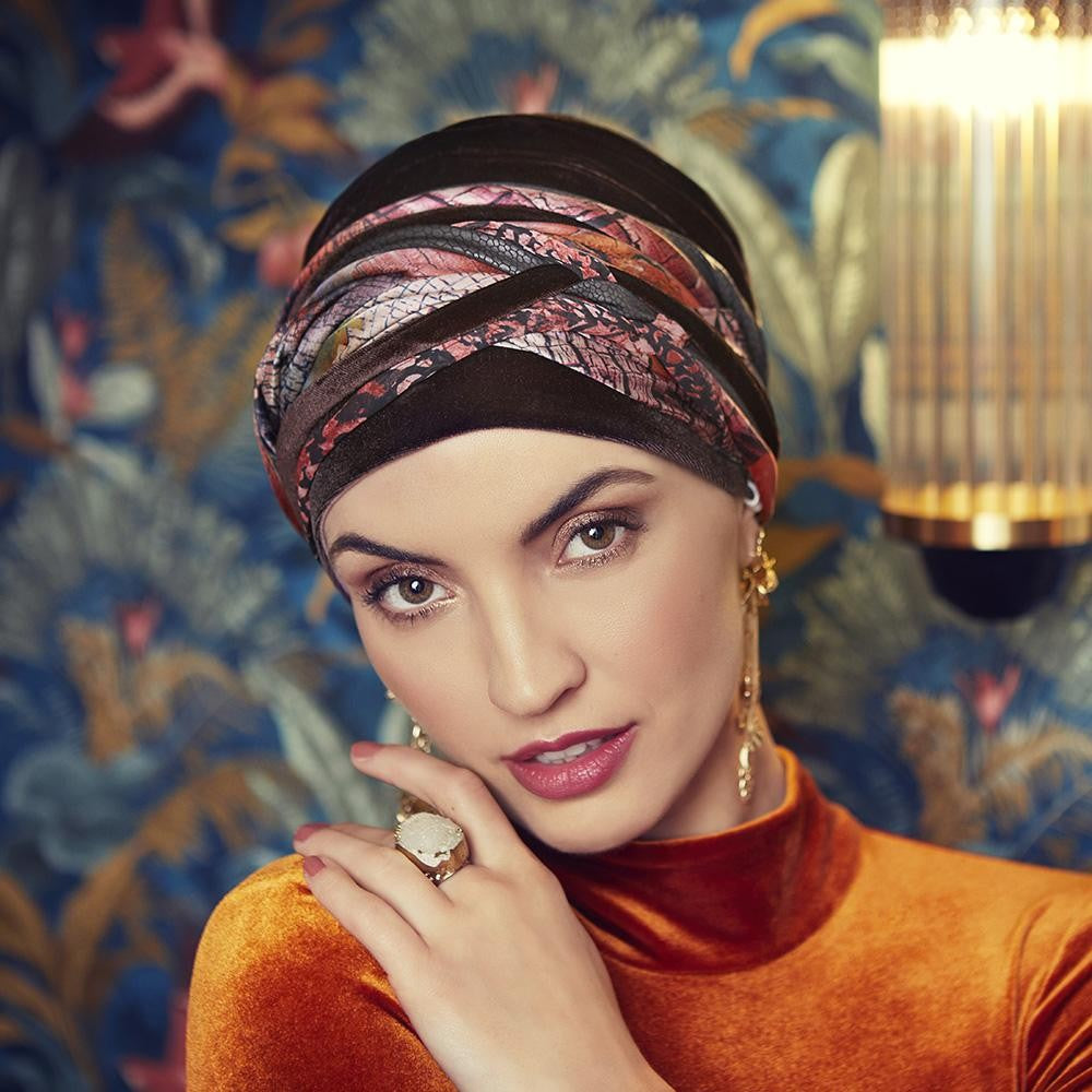 BOHO SCARLET TURBAN SET
