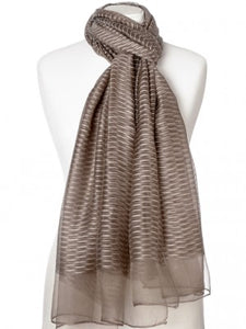 SCARFE WOVEN SILK/COTTON - SMOKED TAUPE