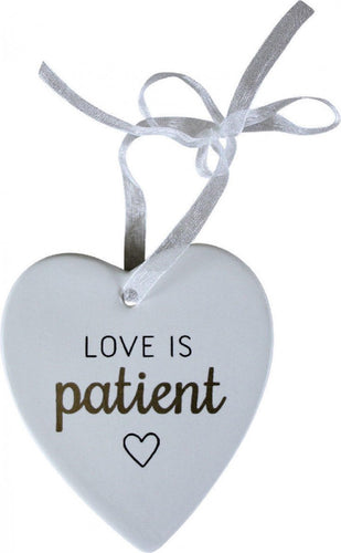 HEART LOVE IS PATIENT