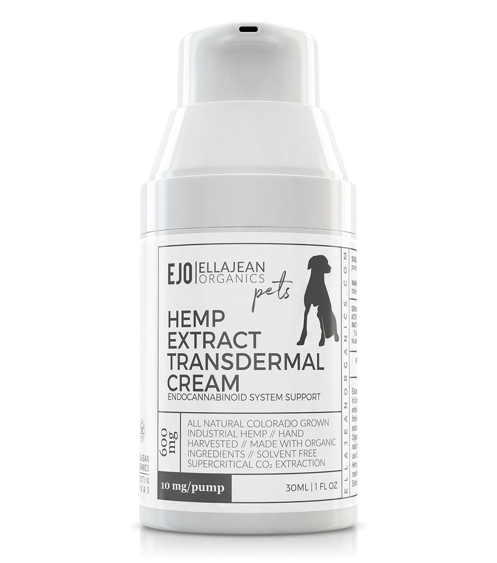 EllaJean Organics Transdermal Hemp Extract Cream for Pets