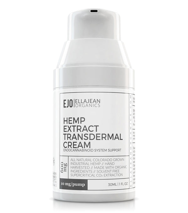EllaJean Organics Topical Transdermal Hemp Extract Cream