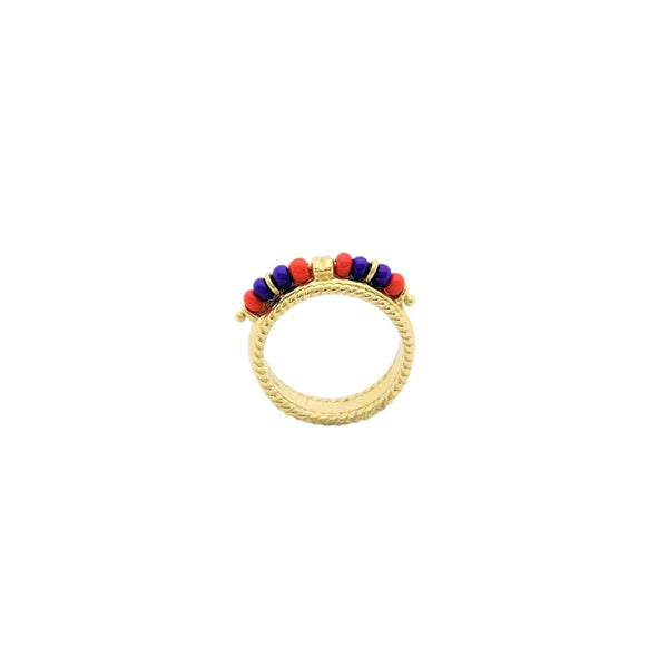 Gold and Beads Ring