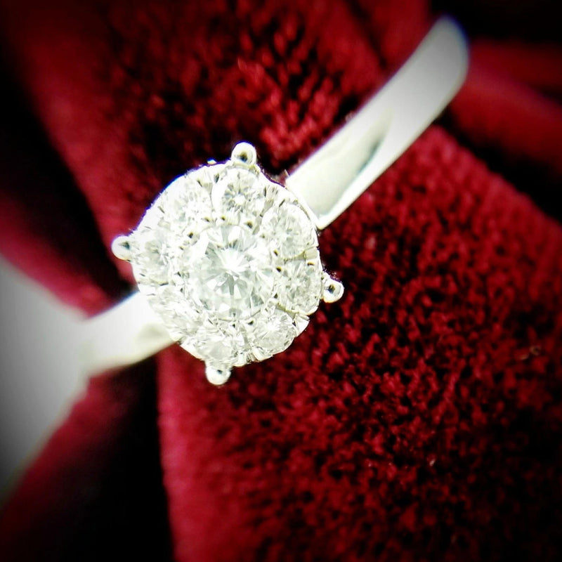 14 kt Illusion Ring - Cape Diamond Exchange