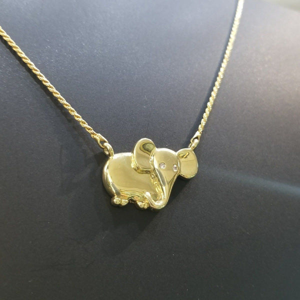 18kt Yellow Gold Elephant Neckpiece - Cape Diamond Exchange