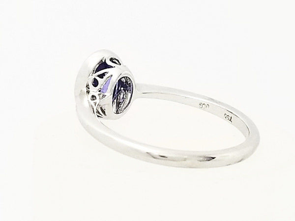 18 kt White Gold Oval Tanzanite Ring - Cape Diamond Exchange