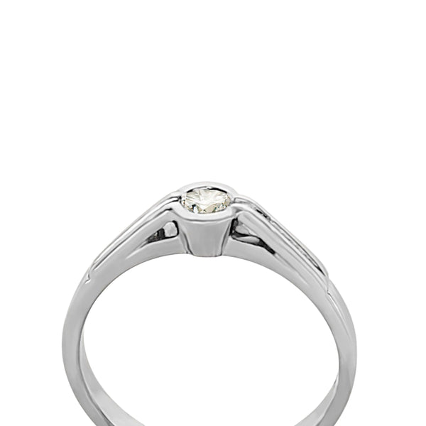 18 kt White Gold Engagement Ring - Cape Diamond Exchange
