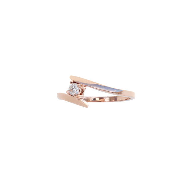 Rose Gold Diamond Engagement Ring - Cape Diamond Exchange