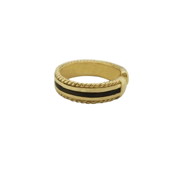 Gold Ring with Elephant Hair that can be adjusted