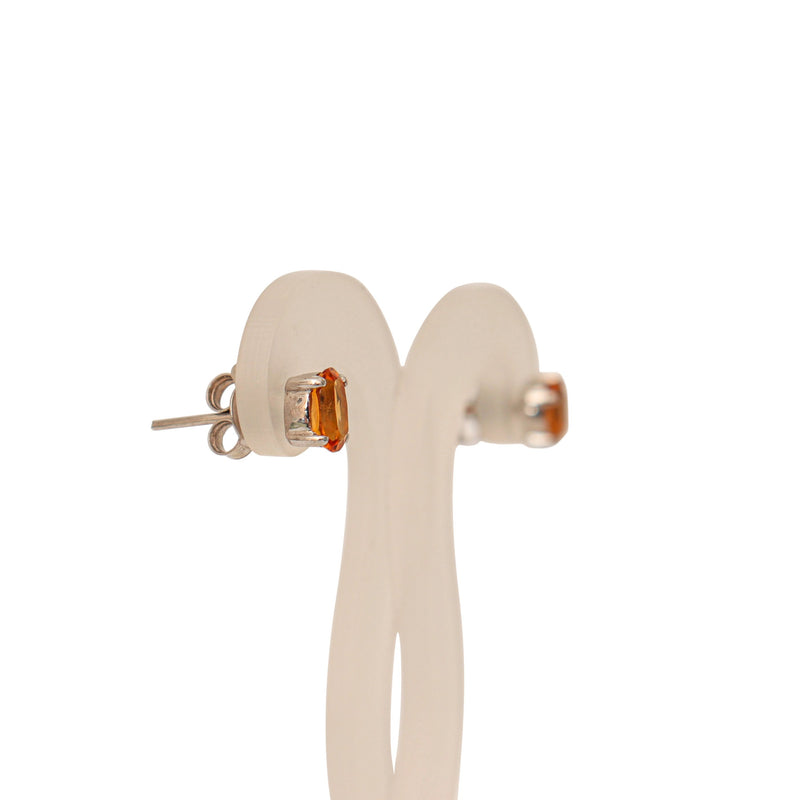 18 kt White Gold Citrine Earrings