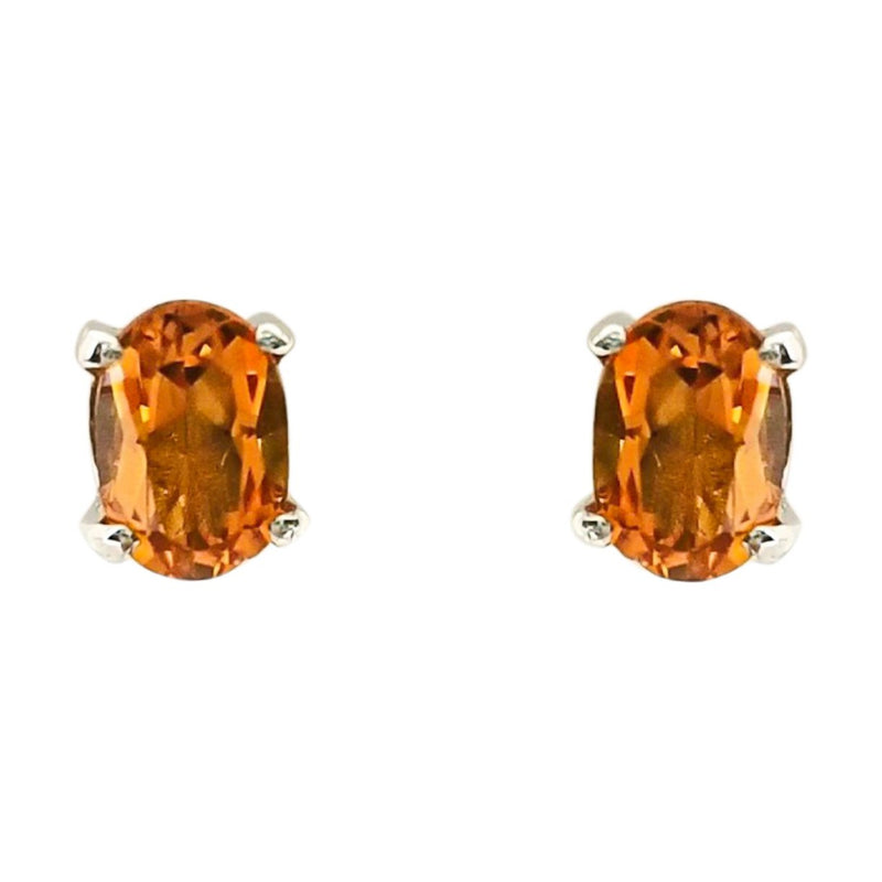 Orange Color Stone Stud Earrings - Cape Diamond Exchange
