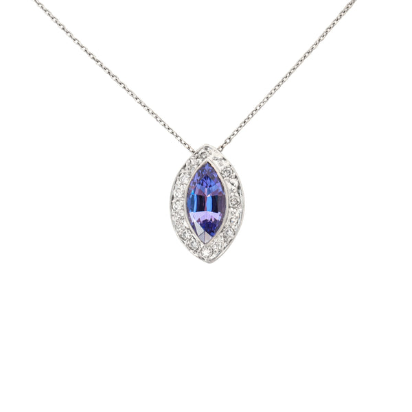 Marquise Tanzanite Pendant - Cape Diamond Exchange