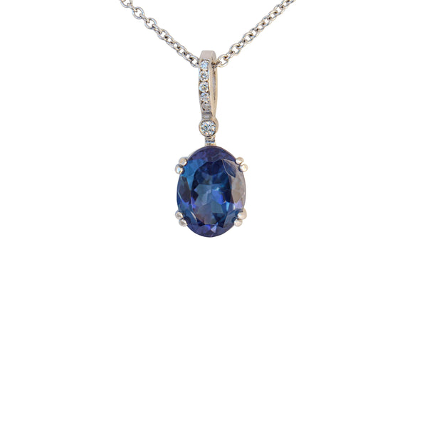 Double Four Claw Tanzanite Pendant