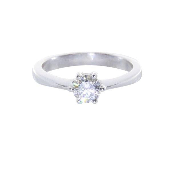 6 Claws Solitaire Engagement Ring