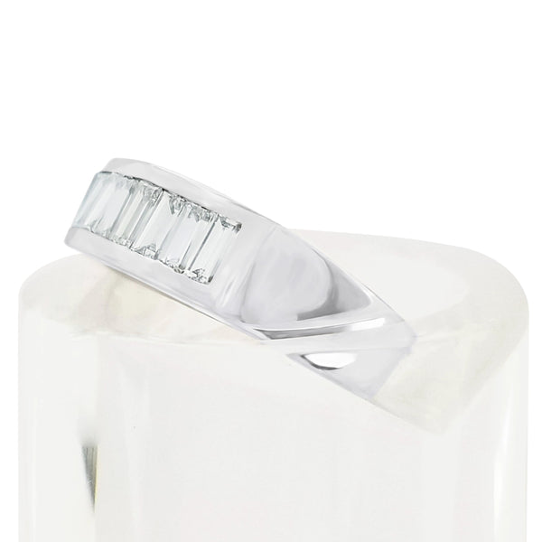 18kt white Gold Half Eternity Baguettes Diamond Ring - Cape Diamond Exchange