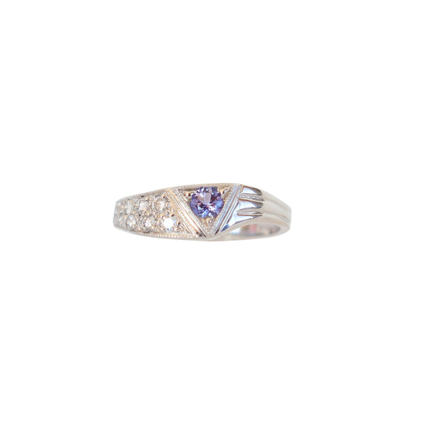 Tanzanite and Diamond Vintage Ring - Cape Diamond Exchange