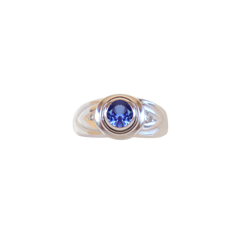 Bezel-set Tanzanite Solitaire ring - Cape Diamond Exchange