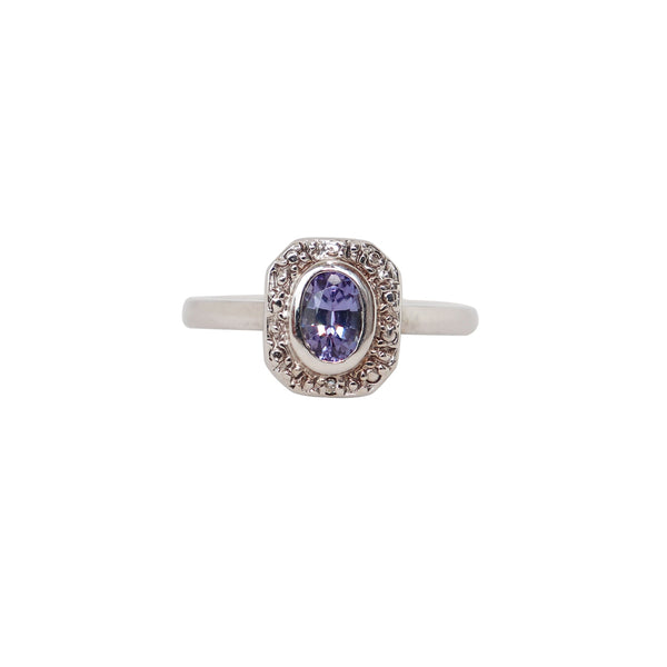Square top Oval Tanzanite Ring - Cape Diamond Exchange
