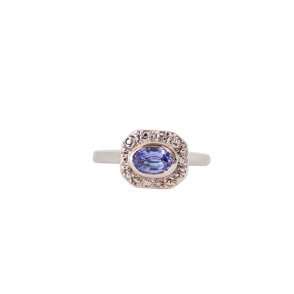 Horizontal set Tanzanite Vintage Ring - Cape Diamond Exchange