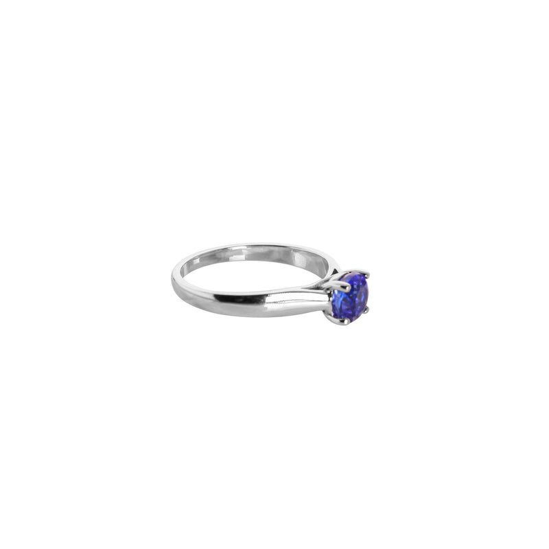 White Gold Tanzanite Solitaire Ring